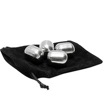 TableCraft Stainless Steel Wine Metal Chilling Stones (Set of 4) - $13.99