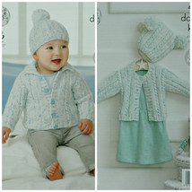Baby Knitting Pattern K4320 Baby's Easy Knit Cable/Rib Cardigan, Jacket,... - $4.75
