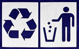 "Recycle-Trash 2 Piece Stencil Set 14 Mil 14"" X 17.5"" - $25.59"