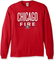 Junk Food MLS Chicago Fire Men's Long Sleeve Tee, XX-Large, Red