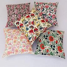 Traditional Jaipur Set of 5 Block Print Fabric Indian Cushions Pillow Covers Dec - $44.54