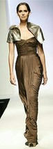 $3850 Nwt - New Oscar De La Renta Runway Stunning Brown Pure Silk Dress Us 10 - $995.00
