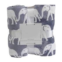 PANDA SUPERSTORE Flannel Throw Blanket Living Room Summer Blanket [Elephant], 20