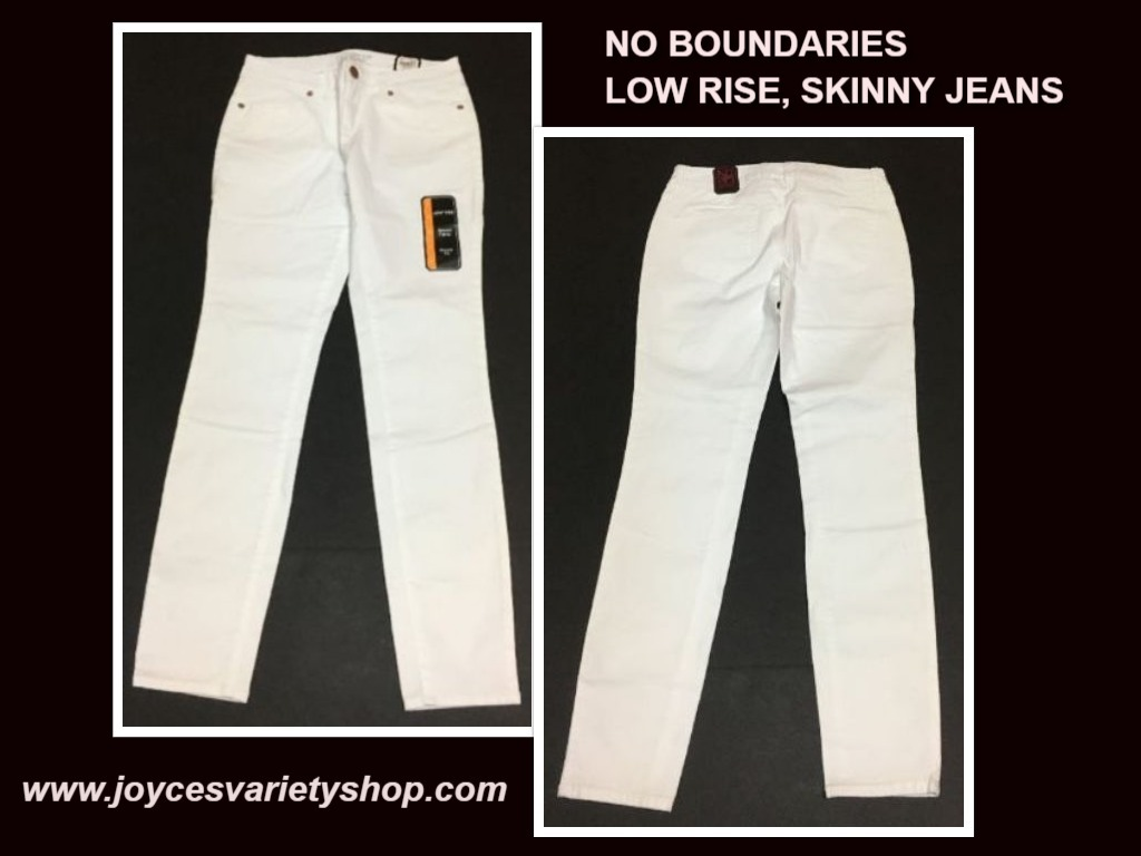 No Boundaries Low Rise Skinny Jeans Size 7 Black Blue White