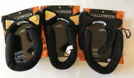 Halloween Costume Cat Ears and tail lot of 3 NIP black - £12.77 GBP
