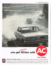 Vintage 1961 Magazine Ad For AC Oil Filters And Employers Mutuals Of Wausau - $5.93