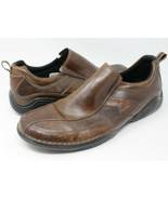 Rockport Slip On Leather Loafers Men's Size 13W, Brown apm79085 - $31.41