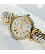 Timex Indiglo Womens Elevated Classics Date Watch T21854 Two Tone Expans... - $34.60