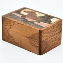 Northwoods Wooden Parquetry Country Western Running Horse Mini Trinket Box image 3