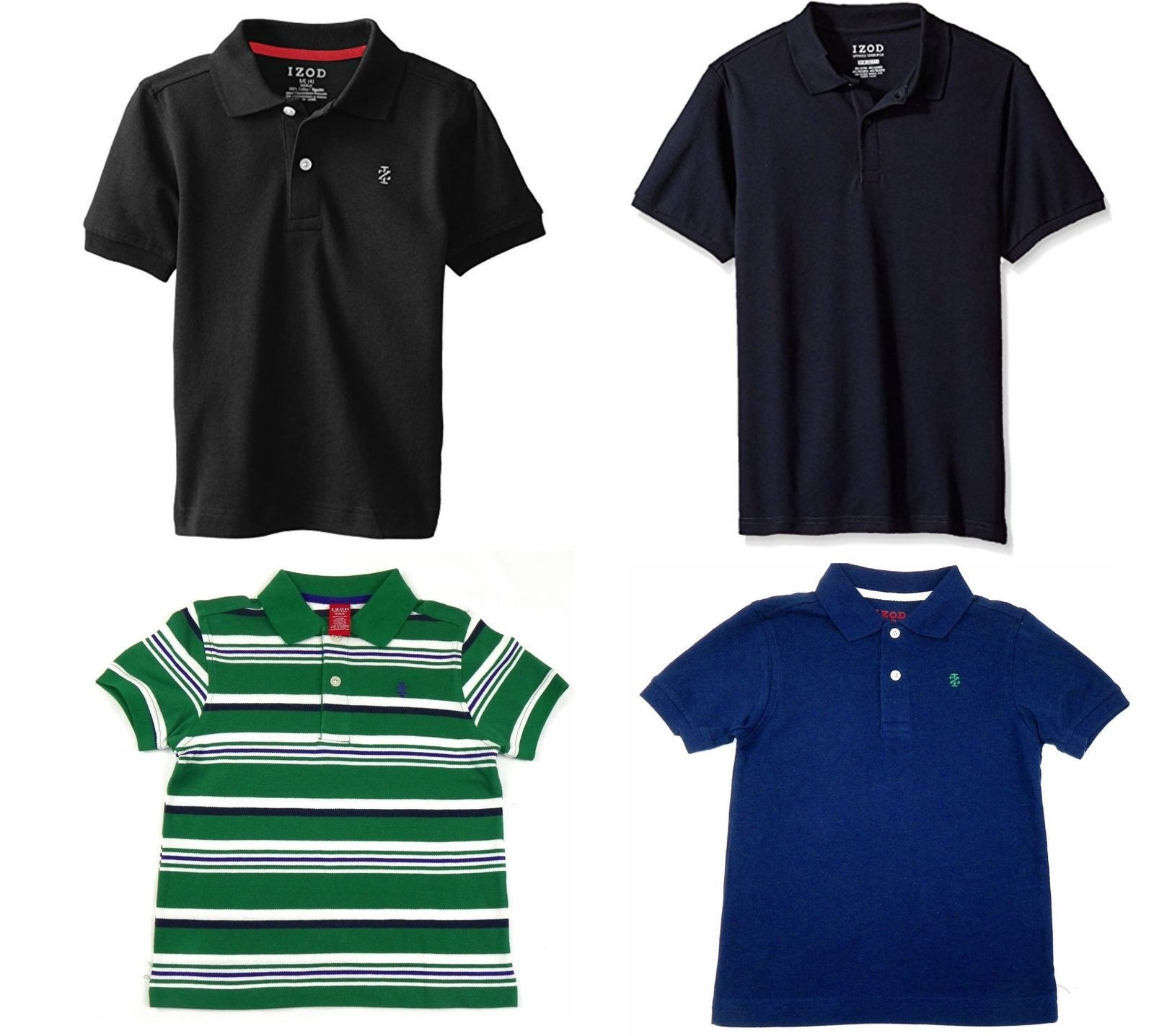 Boy's 4-7x Polo IZOD Cotton Pique Short Sleeve Pullover Shirt NEW