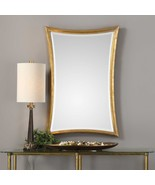 "NEW 42"" SOLID WOOD FRAME HAND APPLIED AGED GOLD LEAF BEVELED WALL VANITY... - $327.80"