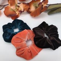 Set of Three High Quality Velvet Hair Scrunchies Handmade Ponytail Holde... - $12.00