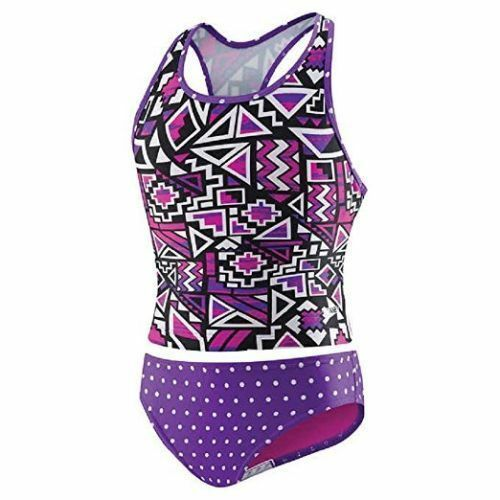 NEW Speedo Girls Swim Suit, 2 Piece, Tankini,Purple