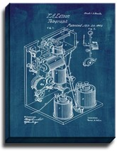 Thomas Edison Telegraph Patent Print Midnight Blue on Canvas - $39.95+