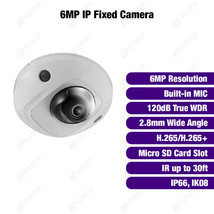 Hikvision DS-2CD2563G0-IS OEM 6MP IP Low-profile Dome Built-in MIC 2.8mm... - $160.62
