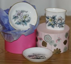 Royal Worcester Bone China Oval Pot & 2 Pin Dishes - $6.44