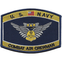 NAVY COMBAT AIR CREWMAN BADGE RATING EMBROIDERED PATCH - $17.09