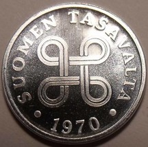 Edelstein Handgehoben Finnland 1970 1 Penni ~ Toller Preis - $2.64