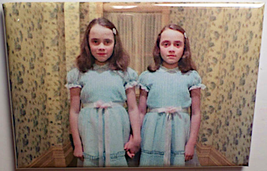 THE SHINING TWINS MAGNET 2X3 INCHES JACK NICHOLSON STANLEY KUBRICK STEPHEN KING  image 1