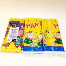 """Lot of 3 RUGRATS Party Tablecloth Plastic 54"""" X 96"""" Chucky Tommy Angelic... - $36.14"""