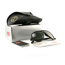 Ray-Ban Women´s Polarized Sunglasses RB4235F Black 901S Green Lens 59 15... - £72.47 GBP