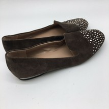 Franco Sarto Women's Flats, Brown Suede, Gems On Front Silver, Size 6.0M - $14.85