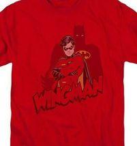 Wingman Batman DC Comics Green Lantern Retro red graphic cotton t-shirt BM2021 image 3