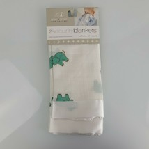 Aden + Anais Green Elephant Issie Baby Blanket White Satin Trim Edge Lov... - $79.19