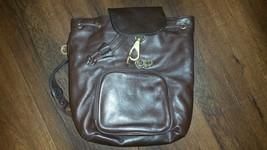 Perlina Backpack Bag Black Leather Silver Hardw... - $19.60