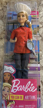 Barbie Chef Doll Dressed in Chef-Inspired Coat with Frying Pan & Hat, New - $12.37
