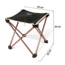 Mini Aluminium Alloy Camping Hiking Foldable Chair Folding Fishing Picni... - $24.76