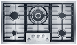 Miele KM2355G 36 Inch Gas Cooktop with 5 Sealed Burners in Stainless Steel - $1,524.55