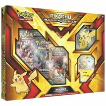 Pokemon TCG Pikachu Sidekick Collection Box 3 Booster Packs + Keychain S... - $19.99
