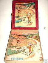 Antique COWBOYS Jig Saw Puzzle #200 Consolidated Paper - $15.32
