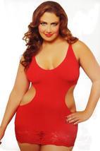NEW ROCKALICIOUS WOMEN'S STRETCH MINI SEXY LINGERIE DRESS PLUS SIZE RED #R105X image 3