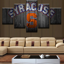 5 Pieces/Set Syracuse Oranges Logo Sport Canvas Printing Wall Art Home D... - $17.75+