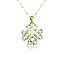 Yellow Gold Flashed Sterling Silver Two-Tone Diamond-cut Filigree Cross ... - $62.49
