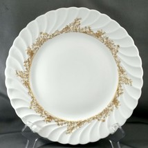 """Theodore Haviland Ladore Dinner Plate 10.25"""" White Limoges Porcelain w Gold - $15.84"""