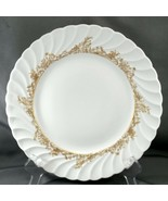 "Theodore Haviland Ladore Dinner Plate 10.25"" White Limoges Porcelain w Gold - $15.84"