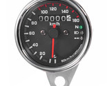 12V Universal Motorcycle Speedometer Odometer Gauge Dual Speed Meter with LED In