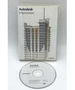 Autodesk Impression 1.0 Software 2007 CD Product Key Code  - $99.99