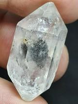 Noir avec Cœur Herkimer Rare Diamant Noir Anthraxolite Inclusions 11.7gr... - $93.92