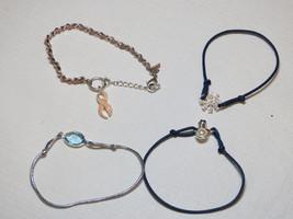Ladies Womens Avon lot of bracelets snowman snowflake breast cancer ribbon NIB;; - $29.69
