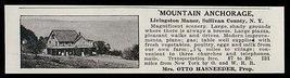 Livingston Manor 1915 Sull Co Mountain Anchorage NY 3 Churches Phones AD - $16.50