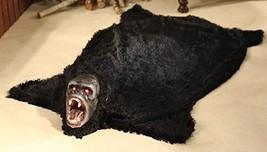 Horrifying Animated Gorilla Floor Rug w/ Lighted Eyes & Spooky Sounds - $33.97