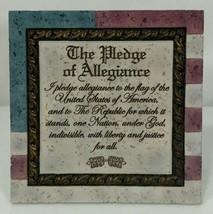 Demdaco Pledge of Allegiance Plaque - Wall Hanging by Bill Stross Hearts... - $14.84