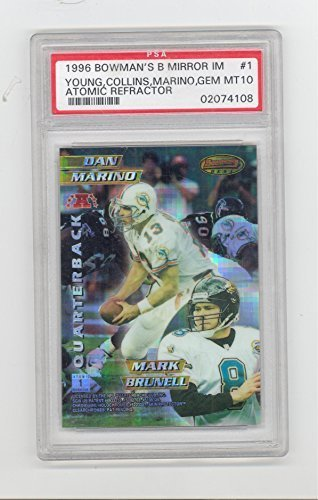 1996 Bowman's Best Mirror Image Dan Marino Steve Young ++ Atomic Refractor PSA 1