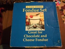Wilton 12 Piece Dessert Fondue Set White Ceramic Bowl Fruit & Cheese Dip... - $21.37