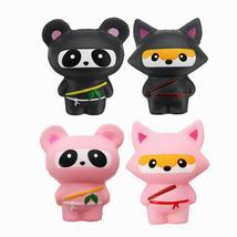 14cm Cute Jumbo Squishy Ninja Cat Fox Panda Scented Super Slow Rising Kids Toy G - $14.49+