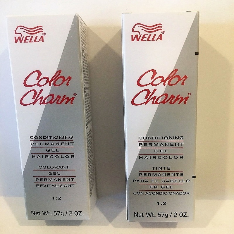 2 Wella Color Charm Conditioning Permanent Haircolor Gel